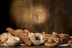 French baguette and baked products Stock Images