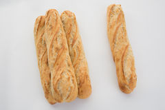 French baguette bread isolated Stock Photography