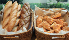 French baguette and croissant Stock Photo