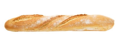 French baguette fully isolated Stock Image
