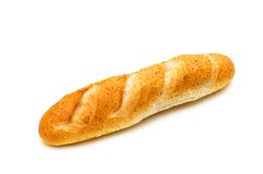 French baguette isolated Stock Photo
