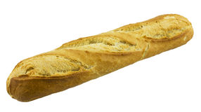 French baguette. isolated on white Royalty Free Stock Images