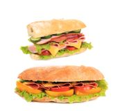 French baguette sandwich. Royalty Free Stock Photography