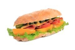 French baguette sandwich. Stock Image