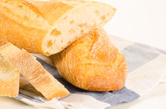 French baguette slices Stock Photos