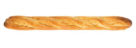 French baguette on white background, isolated, bread. stock photography
