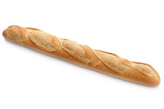 French baguette white bread isolated Stock Photos