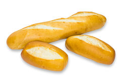 French baguette on white Stock Image
