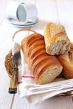 French baguette in wicker basket Royalty Free Stock Image