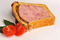French baked goose pate Royalty Free Stock Image