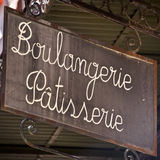 French bakery sign Royalty Free Stock Photography