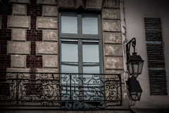 French balcony on building royalty free stock photography