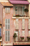 French balcony in Paris. Image of a balcony at an old rural french house. Taken in Paris, France Royalty Free Stock Photography