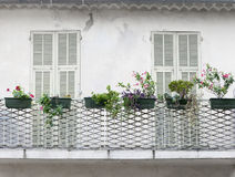 French balcony with shutters Royalty Free Stock Photos