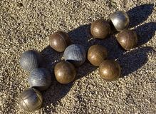 French ball game of petanque Royalty Free Stock Photo