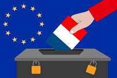 French ballot box for the European elections. A french ballot box for the European elections vector illustration