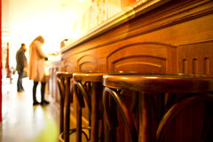 French Bar interior Stock Photography