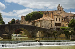 French bastide village Royalty Free Stock Images