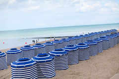 A French beach. A beach in Cabourg, France Royalty Free Stock Photos