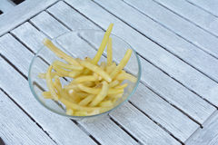 French bean in glass bowl Royalty Free Stock Photos