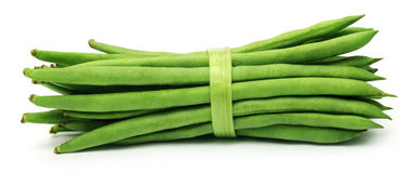 French bean over white background Royalty Free Stock Photos