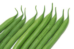 French beans. A pile of french beans isolated on a white background Royalty Free Stock Photo