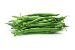 French Beans. On White Background Stock Photos