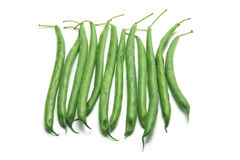 French Beans. On White Background Royalty Free Stock Image