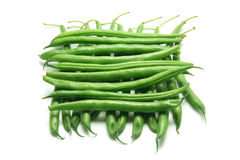 French Beans. On White Background Royalty Free Stock Photo