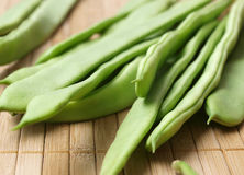French beans. Some french beans macro detail Stock Photos