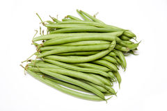 French Beans. A bunch of french beans isolated on white studio background Stock Photo
