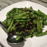 French Beans. Fried French beans with olive oil Royalty Free Stock Photography