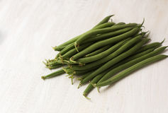 French beans at the greengrocer Stock Photography