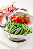 French Beans inside a pan Stock Image