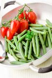 French Beans inside a pan Stock Photo