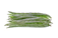 French Beans Isolated Stock Photos