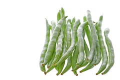 French Beans Isolated Royalty Free Stock Images
