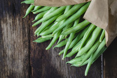 French Beans. On the old wood Royalty Free Stock Image