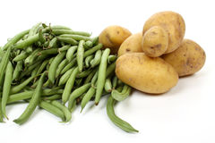 French beans and potatoes Royalty Free Stock Photos