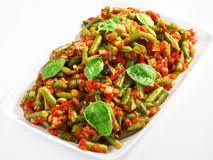 French beans and tomato casserole Royalty Free Stock Photos
