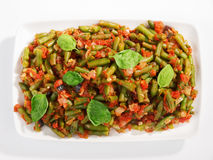 French beans and tomato casserole Stock Image