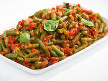French beans and tomato casserole Stock Images