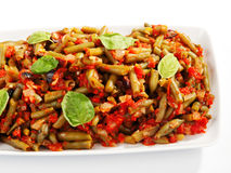 French beans and tomato casserole Stock Photo