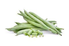 French beans  on white. Background Stock Photos