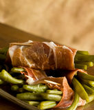 French Beans With Parma Ham Royalty Free Stock Photography