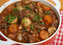 French Beef Bourguignon Stew Stock Photography