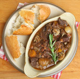 French Beef Bourguignon Stew Royalty Free Stock Photography