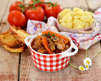 French beef stew with tomato sauce Stock Photography