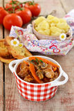 French beef stew with tomato sauce Royalty Free Stock Images