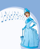 French Belle singing. Stock Image
